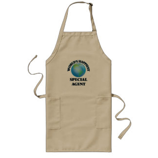 World's Happiest Special Agent Long Apron