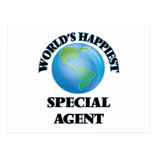 World's Happiest Special Agent Postcard
