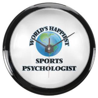World's Happiest Sports Psychologist Fish Tank Clock