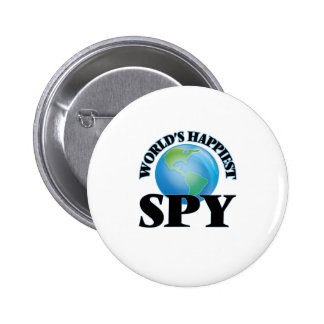 World's Happiest Spy 2 Inch Round Button