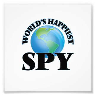 World's Happiest Spy Photo Print