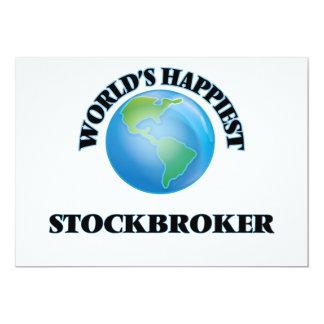 World's Happiest Stockbroker 5x7 Paper Invitation Card