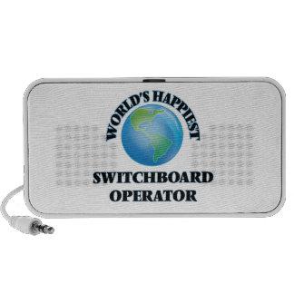 World's Happiest Switchboard Operator Travelling Speaker