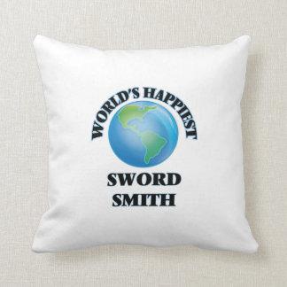 World's Happiest Sword Smith Pillow