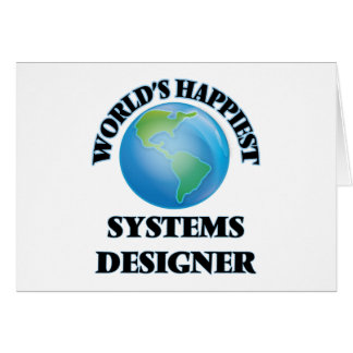 World's Happiest Systems Designer Stationery Note Card