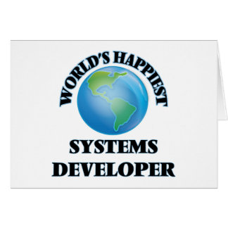 World's Happiest Systems Developer Stationery Note Card
