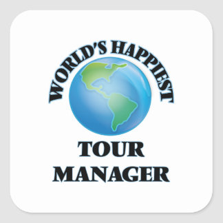 World's Happiest Tour Manager Square Sticker