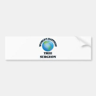 World's Happiest Tree Surgeon Bumper Sticker
