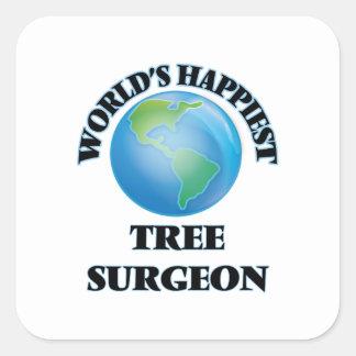 World's Happiest Tree Surgeon Square Sticker