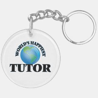 World's Happiest Tutor Keychain