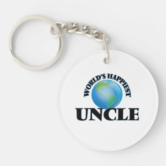 World's Happiest Uncle Single-Sided Round Acrylic Keychain