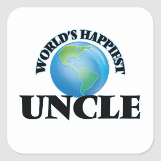World's Happiest Uncle Square Sticker