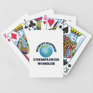 World's Happiest Unemployed Worker Bicycle Playing Cards