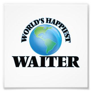 World's Happiest Waiter Photo Print
