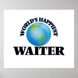 World's Happiest Waiter Poster