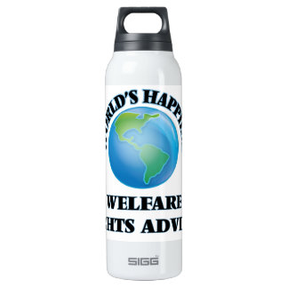 World's Happiest Welfare Rights Adviser 16 Oz Insulated SIGG Thermos Water Bottle