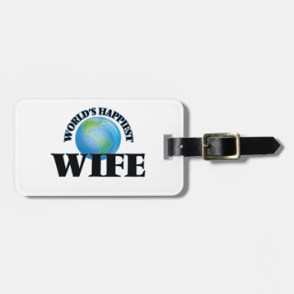 World's Happiest Wife Travel Bag Tag