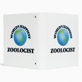 World's Happiest Zoologist 3 Ring Binders