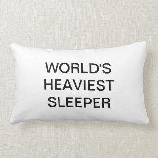 Worlds heaviest sleeper pillow