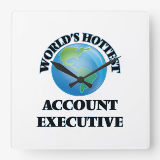 World's Hottest Account Executive Square Wall Clocks