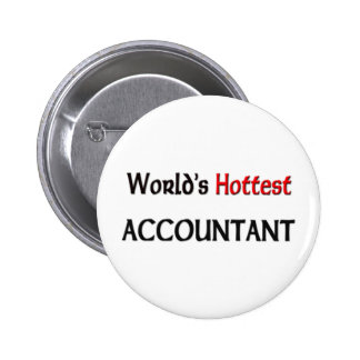 Worlds Hottest Accountant Pinback Button