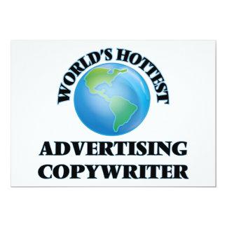 "World's Hottest Advertising Copywriter 5"" X 7"" Invitation Card"
