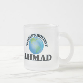 World's Hottest Ahmad Frosted Glass Coffee Mug