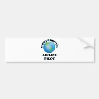 World's Hottest Airline Pilot Bumper Sticker