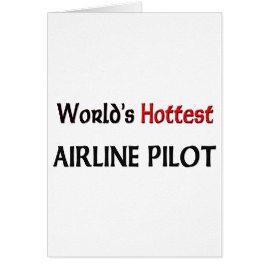Worlds Hottest Airline Pilot Card