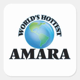 World's Hottest Amara Square Sticker