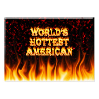 World's Hottest American fire and flames red marbl Business Cards