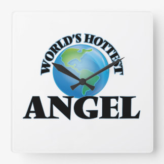 World's Hottest Angel Square Wall Clock