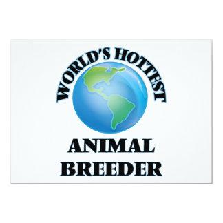 World's Hottest Animal Breeder 5x7 Paper Invitation Card