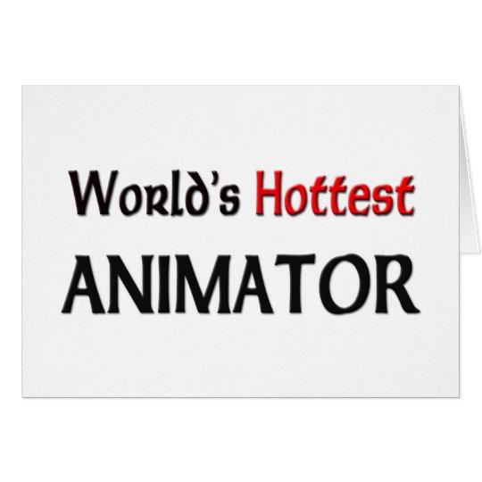 Worlds Hottest Animator Card