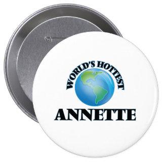 World's Hottest Annette 4 Inch Round Button