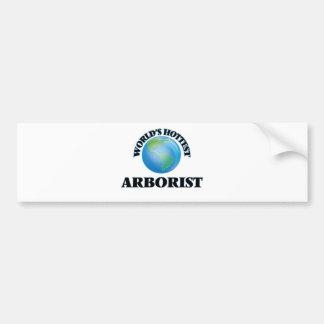 World's Hottest Arborist Bumper Sticker