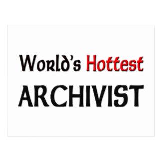 Worlds Hottest Archivist Postcard