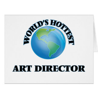 World's Hottest Art Director Large Greeting Card