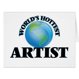World's Hottest Artist Large Greeting Card