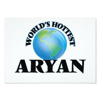 "World's Hottest Aryan 5"" X 7"" Invitation Card"