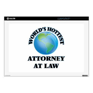 """World's Hottest Attorney At Law 17"""" Laptop Decals"""