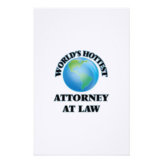 World's Hottest Attorney At Law Customized Stationery