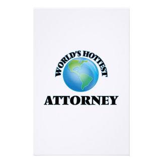 World's Hottest Attorney Stationery Design