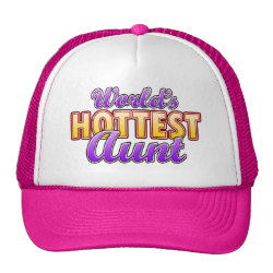 Trucker Hat with World's Hottest Aunt design
