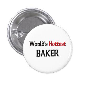 Worlds Hottest Baker Pinback Button