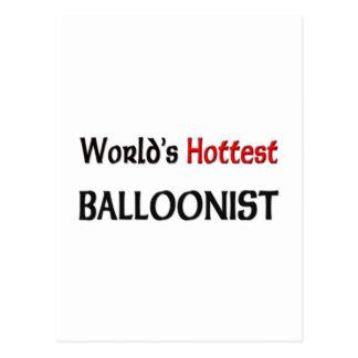 Worlds Hottest Balloonist Postcard