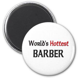 Worlds Hottest Barber 2 Inch Round Magnet