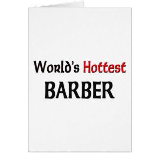 Worlds Hottest Barber Card