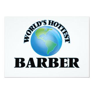 World's Hottest Barber Custom Invitations