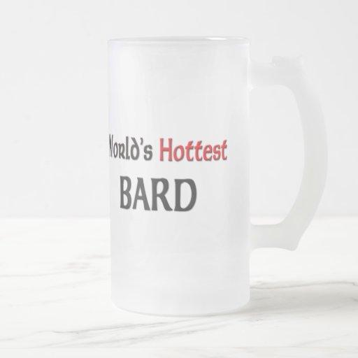 Worlds Hottest Bard 16 Oz Frosted Glass Beer Mug